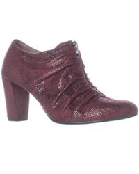 Aerosoles - Fortunate Front Zip Scrunch Ankle Boots, Wine Snake - Lyst