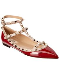 Valentino - 17ss Women's Shoes Rockstud Ballet Pump Red/poudre - Lyst