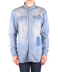 Frankie Morello - Men's Light Blue Cotton Shirt - Lyst