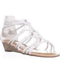 Esprit - Cecile Zip Up Wedge Strappy Sandals, White - Lyst