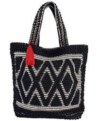 San Diego Hat Company - Women's Woven Darie Shopper Bag Bsb3545 - Lyst