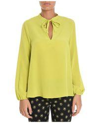 Etro | Women's Yellow Silk Shirt | Lyst