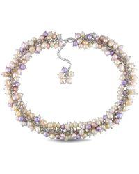 Catherine Malandrino - Natural Opulence Labradorite & Crystal Necklace - Lyst