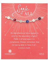Dogeared - Seek It All Silver Gemstone Bracelet - Lyst