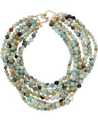 Kenneth Jay Lane - 18k Plated Jade Necklace - Lyst