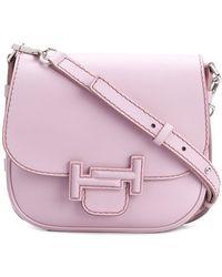 Tod's - Women's Pink Leather Shoulder Bag - Lyst