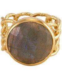 Melinda Maria - 14k Plated Labradorite Ring - Lyst