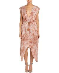 Mystree - Tie Dye Drawstring Dress - Lyst