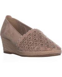 Karen Scott - Ks35 Tasha Perforated Wedge Court Shoes, Blush - Lyst