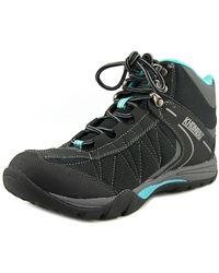 Khombu - Hilary Women Round Toe Leather Black Hiking Shoe - Lyst