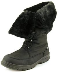 Kamik - Seattle Women Round Toe Canvas Black Snow Boot - Lyst