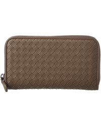 Bottega Veneta - Intrecciato Nappa Leather Zip-around Wallet - Lyst