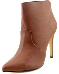 Michael Antonio - Florian Women Pointed Toe Synthetic Brown Ankle Boot - Lyst