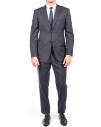 Luciano Barbera - Men Two Button Wool Suit Dark Navy - Lyst