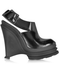 KENZO - Women's Black Leather Sandals - Lyst