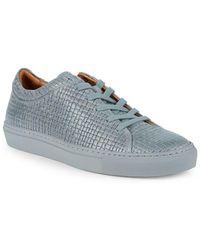 31cea44414fe33 Aquatalia - Men s Alaric Waterproof Striped Embossed Leather Sneaker - Lyst