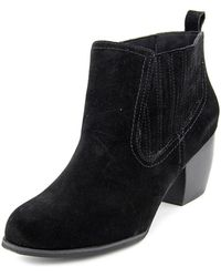 Restricted - Wynter Round Toe Suede Ankle Boot - Lyst