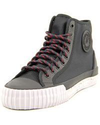 PF Flyers - Centre Hi Round Toe Canvas Trainers - Lyst
