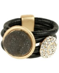 Saachi - Leather Resin Ring - Lyst