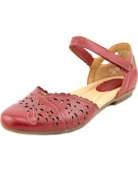 Earth - Belltower Women Round Toe Leather Flats - Lyst