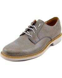Cole Haan - Great Jones Plain Men Round Toe Leather Gray Oxford - Lyst