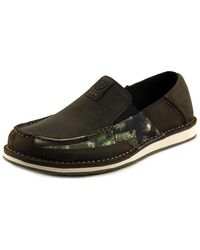 Ariat - Cruiser Men Moc Toe Leather Brown Loafer - Lyst