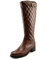 Catherine Malandrino - Kylie Women Round Toe Leather Brown Mid Calf Boot - Lyst