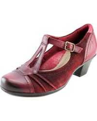 Earth - Wanderlust Women Round Toe Leather Burgundy Mary Janes - Lyst