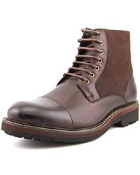 Bugatchi - North Star Men Round Toe Leather Ankle Boot - Lyst