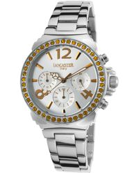 Lancaster Italy - Women's Pillo Fantasy Chronograph Stainless Steel Silver-tone Dial Ss - Lyst