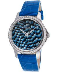 Corum - Women's Heritage Artisans Feather Diam. Auto Blue Gen Alligator & Dial - Lyst