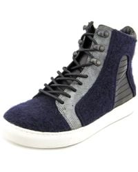 Elie Tahari - Vortex Women Canvas Blue Fashion Trainers - Lyst