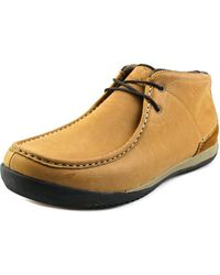 Simple - Allagash Men Moc Toe Leather Tan Desert Boot - Lyst