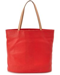 Isaac Mizrahi New York - Kay Perforated North South Leather Tote - Lyst
