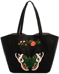 Bungalow 20 - Alexis Butterfly Patch Tote - Lyst