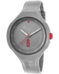 PUMA - Women's Wave Grey Silicone And Dial - Lyst