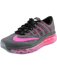 Nike - Air Max 2016 Women Round Toe Synthetic Grey Running Shoe - Lyst