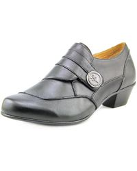 Aetrex - Danielle Women Round Toe Leather Black Loafer - Lyst