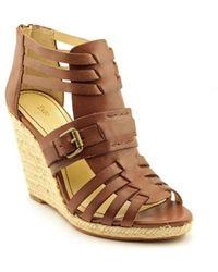 Enzo Angiolini - Imayra Women Open Toe Leather Wedge Sandal - Lyst