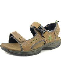 Dunham - Nolan Men Open-toe Leather Brown Sport Sandal - Lyst