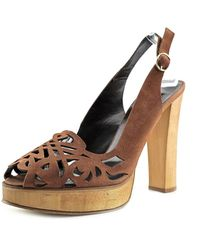 Biba - Bss024 Open Toe Canvas Platform Heel - Lyst