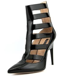 Ruthie Davis - Sexy Women Pointed Toe Patent Leather Black Ankle Boot - Lyst
