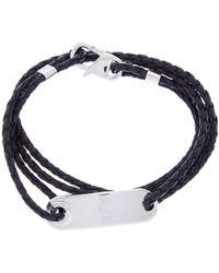 Links of London - Soho Silver & Leather Men's Dog Tag Bracelet - Lyst
