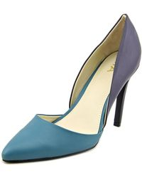 MIA - Michele Women Pointed Toe Synthetic Blue Heels - Lyst