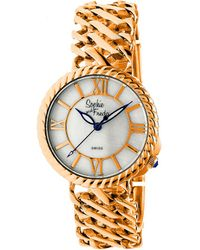 Sophie & Freda - Charleston Mother-of-pearl Bracelet Watch - Lyst