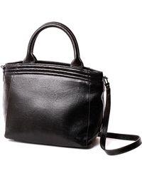 Lauren Cecchi New York - Lauren Cecchi Black Leather Getaway Shoulder Bag - Lyst