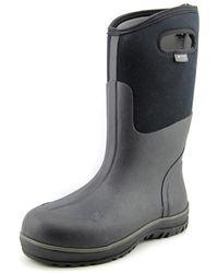 Bogs - Ultra High Men Round Toe Canvas Black Rain Boot - Lyst