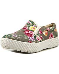 Mojo Moxy - Maritime Women Round Toe Canvas Gray Sneakers - Lyst