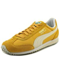 Puma Steel Grey Nylon Whirlwind Classic Striped Sneakers in Gray for ... 5fa5797ae
