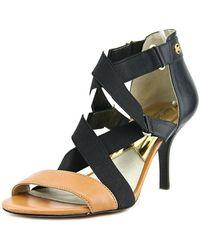 MICHAEL Michael Kors - Wendy Mid Open Toe Leather Sandals - Lyst